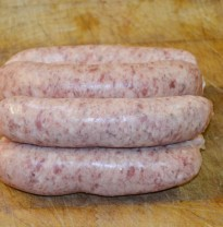 Plums Bangers, traditional pork sausages