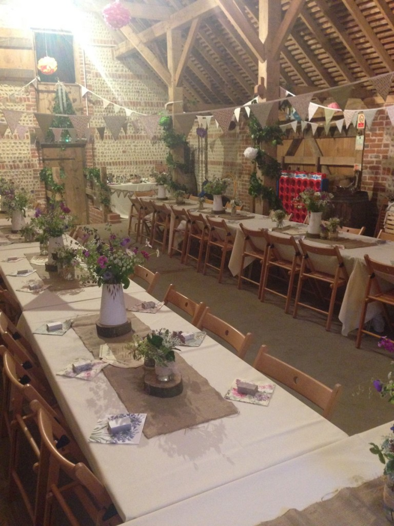 Barn venue in East Sussex